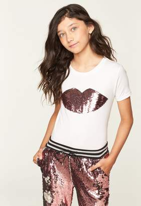 Milly Minis MillyMilly Sequined Lips Tee