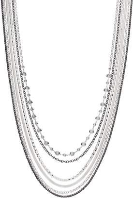 JLO by Jennifer Lopez Two Tone Multi Strand Necklace