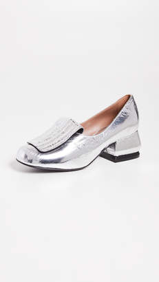 Marni Metallic Loafer Pumps