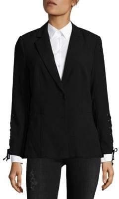 Saks Fifth Avenue BLACK Lace-Up Blazer