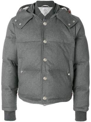 Thom Browne Tonal Grosgrain Down-Filled Bomber Jacket