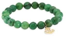 Sydney Evan Anchor Diamond& Verdite Bead Bracelet