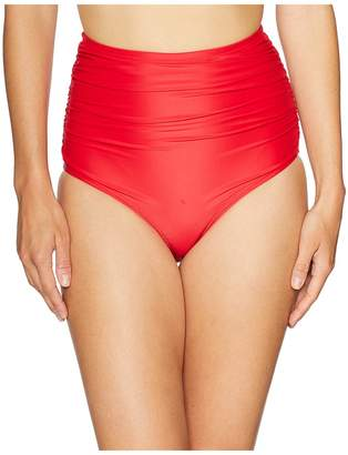 Unique Vintage Ruched Georgiana High-Waist Bottom Women's Swimwear