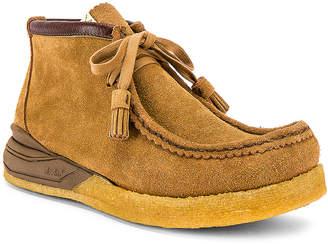 Visvim Sneaker Ankle Moccasin in Camel | FWRD