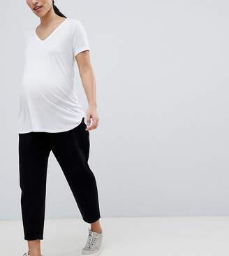 Asos DESIGN Maternity balloon boyfriend jeans in clean black