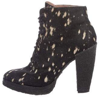 Belle by Sigerson Morrison Ponyhair Ankle Boots
