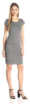 Velvet by Graham & Spencer Women's Gauzy Whisper Capsleeve Dress