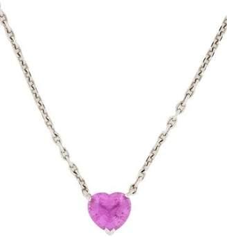 Cartier Sapphire Heart Pendant Necklace