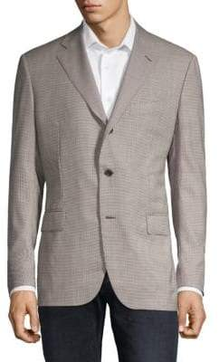 Caruso Check Wool Sportcoat