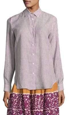 Max Mara Palmi Stripe Button-Front Shirt