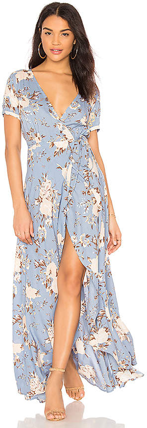 AUGUSTE Abigail Wrap Maxi Dress