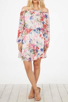 Peach Love California Floral Print Dress