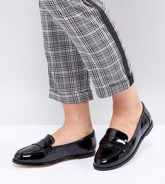 London Rebel Wide Fit Flat Loafers