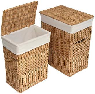 Badger Basket Wicker 2 Hamper Set