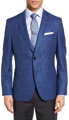 Men's Boss Jeen Trim Fit Plaid Wool Sport Coat $645 thestylecure.com