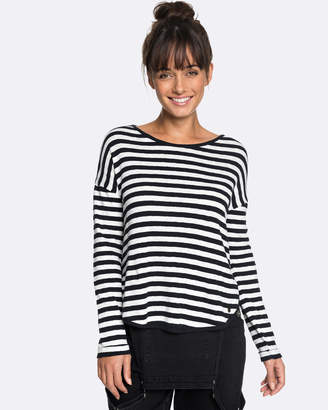 Roxy Womens Curious Direction Striped Long Sleeved T Shirt