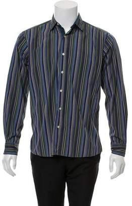 Etro Stripe Woven Dress Shirt