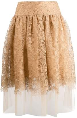 Ermanno Scervino high waisted lace skirt