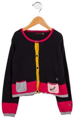 Catimini Girls' Colorblock Knit Cardigan