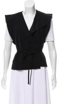 Isabel Marant Tie-Accented Linen-Blend Vest