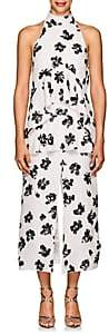 Proenza Schouler WOMEN'S FLORAL JACQUARD TIERED MIDI-DRESS