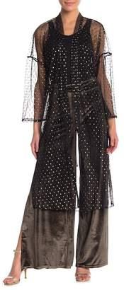 re:named apparel Yvette Metallic Dot Kimono