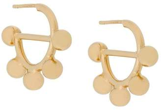 J.W.Anderson gold mini hoop earrings