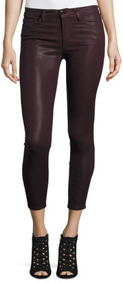 Joe's Jeans The Icon Coated Skinny Ankle Jeans, Deep Orchid $179 thestylecure.com