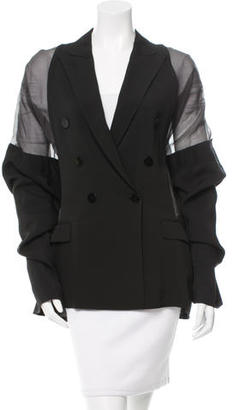 Jean Paul Gaultier Sheer Panel Double-Breasted Blazer w/ Tags $825 thestylecure.com