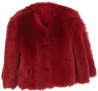 RED Valentino Reversible Cropped Fur Jacket