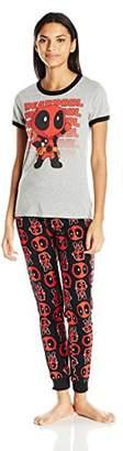 Marvel Women's Deadpool Kawaii T-Shirt and Jogger Set