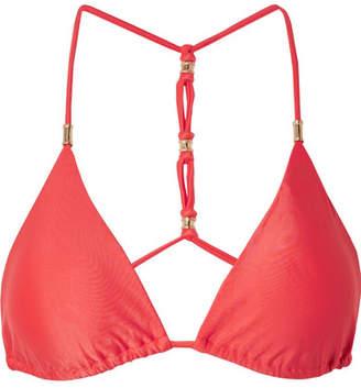 Vix Shaye Triangle Bikini Top - Coral