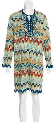 Missoni Lace-Up Mini Dress