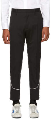 DSQUARED2 Black Stretch Wool Cigarette Trousers