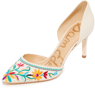 Sam Edelman Telsa II Embroidered Pumps $120 thestylecure.com