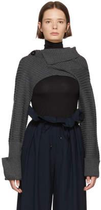 Enfold Grey Lara Cropped Body Sweater