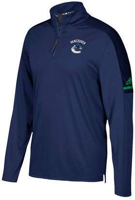 adidas Men's Vancouver Canucks Authentic Pro Quarter-Zip Pullover
