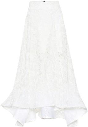 Maticevski Flared lace skirt