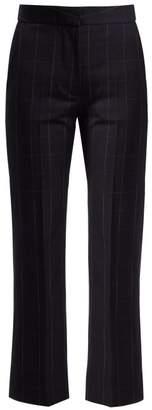 Stella Mccartney - Tianna Checked Wool Trousers - Womens - Navy