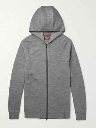 Loro Piana Mélange Virgin Wool-Blend Zip-Up Hoodie