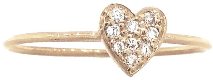 Jennifer Meyer diamond heart stacking ring