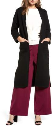 J.o.a. Ribbed Button Side Cardigan