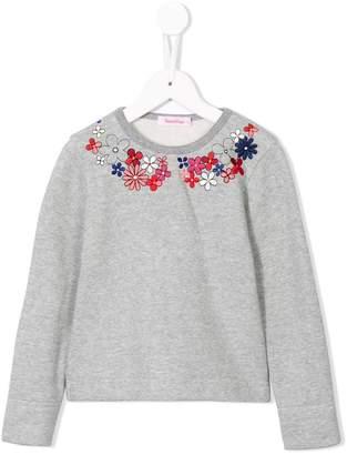 Familiar flower sweatshirt
