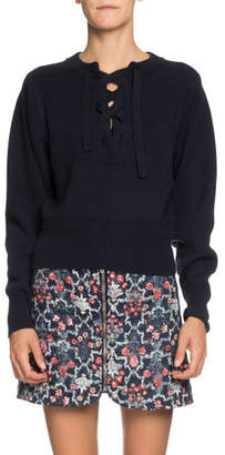 Etoile Isabel Marant Kaylyn Lace-Up Pullover Sweater