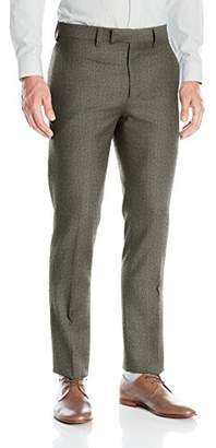 Louis Raphael Luxe Men's Slim Fit Flat Front Wool Pattern Dress Pant