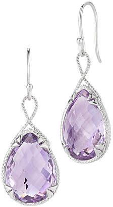 Alor Delatori by Delatori By Silver 27.00 Ct. Tw. Pink Amethyst Drop Earrings