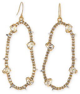 Alexis Bittar Large Oval Pavé Wire Drop Earrings $175 thestylecure.com