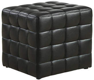 Monarch Faux Leather Square Ottoman