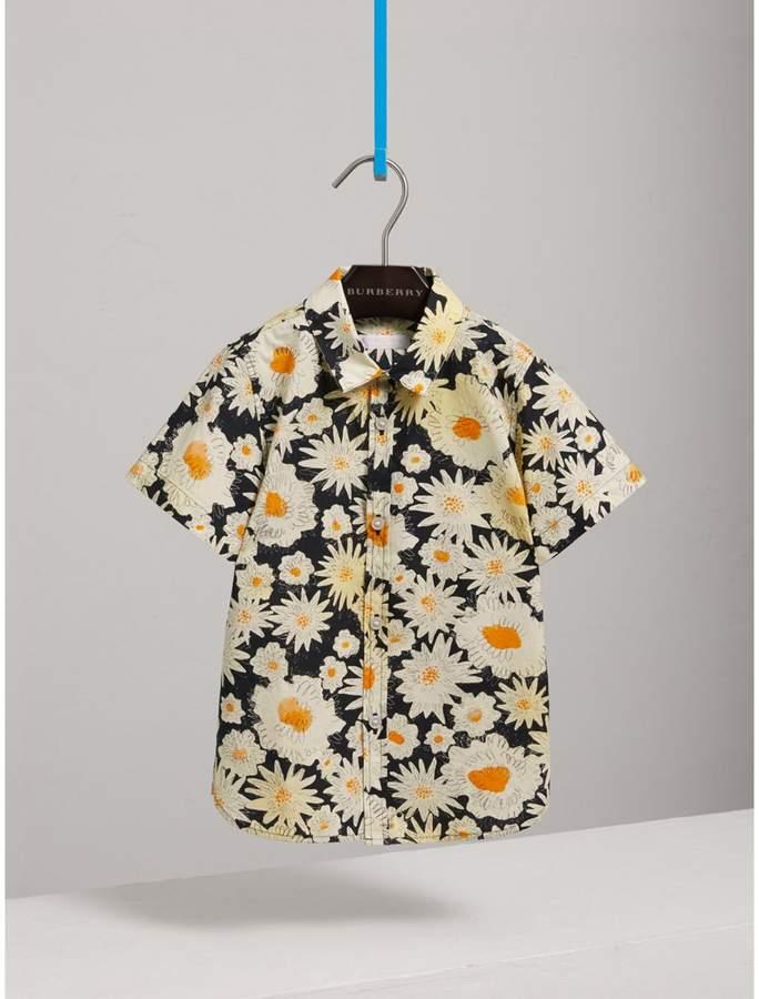 Short-sleeve Daisy Print Shirt