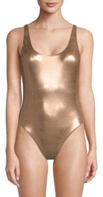 Dolce Vita One-Piece Metallic Swimsuit